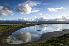 Calm Bay Like a Mirror (milton sun) Tags: westpointharbor redwoodcity california seascape bay ngc bayarea wave ocean shore seaside coast northerncalifornia westcoast pacificocean landscape outdoor clouds sky water rocks mountains rollinghills sea sand beach cliff nature meadows sanmateocounty field grass