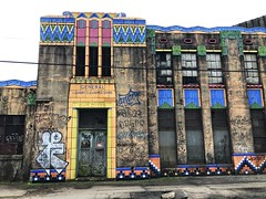 70/365 (moke076) Tags: 2018 365 project 365project project365 oneaday photoaday iphone cell cellphone mobile building art deco new orleans neworleans nola historic dilapidated generallaundrycleaners tile bright colors artdeco treme landmark old warehouse louisiana sanserif font graffiti tagged tags