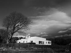 Winter Light (Steve_Mallett) Tags: 4star architecture bw blackandwhite buildings estuary house landscape newport pembrokeshire england
