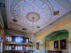 Sydney.  Ceiling decorations inside Government House.This public investiture room was built 1837 to 1845. (denisbin) Tags: sydney governmenthouse shop bridge harbour sydneyharbour liner ship wickhamhouse ceiling investiture