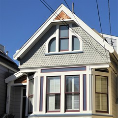 San Francisco, CA, Noe Valley, Victorian House, Bow Window (Mary Warren 13.5+ Million Views) Tags: sanfranciscoca noevalley architecture building house residence victorian window bowwindow