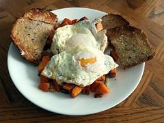 Sweet Potato Breakfast Hash (canadianlookin) Tags: sweetpotato eggs hash toast breakfast
