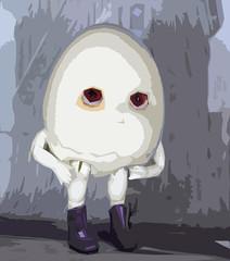 Eggspressionism (bentwhisker) Tags: doll bjd resin anthro egg soom neoangelregion humptydumpty art painting expressionism 3925b