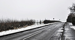Lonely road (Dun.can) Tags: winter snow road leicestershire trees welby