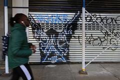 neckface (Luna Park) Tags: ny nyc newyork manhattan graffiti gate neckface character lunapark