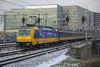 NS E186 032, Amsterdam, March 2018 (Rochdale 235) Tags: railway rail railways transport train trains trein amsterdam centraal nederland nederlandsespoorwegen ns noordholland holland traxx e186 e186032 snow