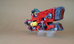 Taurus Speeder Works: Red Giant ([Clever Lego Reference]) Tags: lego speeder hover greeble bike engine vehicle future city cyber punk mini figure moc build creation