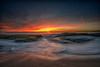 Fire in the Sky (Roving Vagabond aka Bryan) Tags: sunset lagunabeach socal california ca water ocean seaside seascape seashore landscape orangecounty oc sea sky sand rock explore waves longexposure alisobeachpark