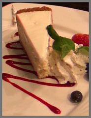 Cheesecake:  Thank you for 27,030,662 views (LarryJay99 ) Tags: tableview food vittles cheesecake dessert urban sweets sweetstuff flickr restaurants eateries planted
