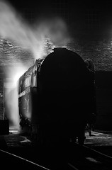 """The Brit On Shed"" Britannia 7MT 70013 'Oliver Cromwell' (Liam60009) Tags: kwvr keighleyandworthvalleyrailway haworth mpd haworthmpd 70013 olivercromwell britannia brit 7mt silhouette sheds shed night longexposure locomotive steam steamlocomotive steamtrain steaming dark sony sonya7rii a7rii"