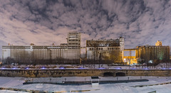 Silo no5 (Le.Lapin.Noir) Tags: canada montreal silo urban city abandoned panorama sky wide exploration history canon 6d dslr
