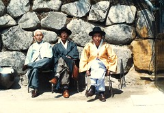 Korea's in the news! Nattily attired gents, South Korea, 1988. (brunofish) Tags: c copyrighted material brian fish aka brunosih cbrunofish