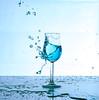 blue2 (Andreas Stamm) Tags: blue blau wasser water glas tropfen drop welle wave herz heart highspeed splash liquid macro makro lights licht sculpture