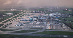 Mini Schiphol Airport (Andy.Gocher) Tags: schiphol andygocher canon100d sigma18250 canon100dsigma18250 europe netherlands airport aircraft aviation schipol amsterdam miniaturemode minimode tiltshift weather