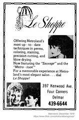 1978 Le Shoppe (albany group archive) Tags: albany ny metroland magazine hair salon styling 1978 le shoppe kenwood avenue four corners delmar old vintage photos picture 1970s photo photograph history historic historical