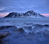 Water on the rocks (Rudi Verspoor) Tags: winter skagsanden beach water rocks mountain cold mountainscape landscape seascape longexposure wideangle 1020mm d7200 norway travel february nikon sunset bluehour sigma clouds sky sea ocean islands vista view