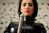 Brunette Mistress 0AngelNoble0 from latexcamera in blakc latex top with a big metallic dildo (0AngelNoble0) Tags: blacklatextop metallicdildo brunette mistress 0angelnoble0