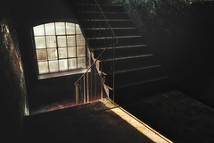 Im Treppenhaus... (hobbit68) Tags: treppenhaus treppen treppe steps sun sonne sunshine sunset fensterbank fenster stufe