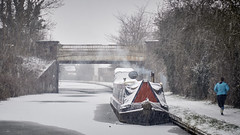 In all weathers (Yo_Nayson) Tags: snow snowy canal water frozen freezing boat narrowboat barge winter wintry nuneaton warwickshire