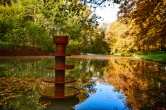 Engelse werk Zwolle (vanderwoud1) Tags: water reflectioninwater natural nature wood bos colours colors colorful trees tree autumn flickr