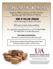 Pecan Grafting flyer (uacescomm) Tags: universityofarkansassystemdivisionofagriculture pecan grafting beebe