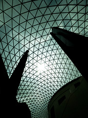 Curved Lines (Steve Taylor (Photography)) Tags: britishmuseum greatdome panels glass black green teal uk gb england greatbritain unitedkingdom london museum