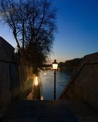 Luci sul fiume (ioriogiovanni10) Tags: blue tramonto sunset blu photo iphone lungotevere lungoilfiume città tevere fiume city rome lights night river roma