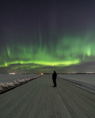 Substorm 2334 hrs MT (WherezJeff) Tags: sturgeoncounty alberta canada ca aurora auroraborealis northernlights curtains person winter substorm 20102019 distagon1528zf