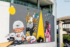 mourning-moon_32655219991_o-1 (D. R. Hill Photography) Tags: art streetart graffiti bangkok thailand asia southeastasia bangkokartandculturecentre alexface mardi painting mural urban city nikon nikond750 d750 tamron tamron2470mmf28 2470mm
