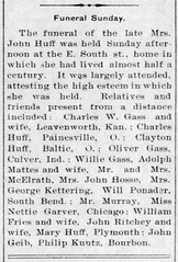 1914 - Christina [Ponader] Huff funeral - Enquirer - 29 Jan 1914