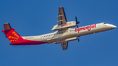 """SpiceJet Bombardier Q400 VT-SUH """"Dhania"""" Bangalore (BLR/VOBL) (Aiel) Tags: spicejet bombardier q400 vtsuh dhania bangalore bengaluru canon60d tamron70300vc"""