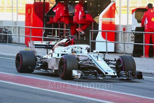 Marcus Ericsson during Formula One Winter Testing 2018