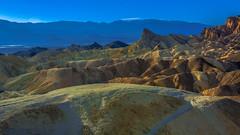 Death Valley National Park California.Golden Canyon & Zabriskie Point (Feridun F. Alkaya) Tags: nps ngc coyote usa nationalpark zabriskiepoint sanddunes jackal desert dvnp deathvalley california mesquiteflatdunes dunes saltflats salt sky landscape artistpalette artistdrive mount goldencanyon deathvalleynationalpark