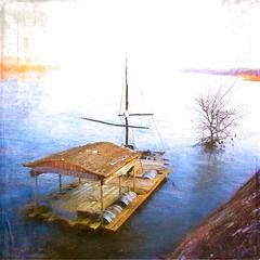 Le bateau ivre... (*Jost49* (Off)) Tags: france paysdelaloire lethoureil fleuve river loire bateau boat radeau raft tonneau barrel texture canoneos6dmkii