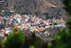 Mountain Valley (petrk747) Tags: vallehermoso lagomera canaryislands spain town mountainvalley islands counrtyside landscape scenery image uotdoor buildings trees shrubs shrubby