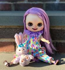 Plum Puddin (cybermelli) Tags: blythe doll plus size fat chubby stella lou custom poonchaya purple hair lilac