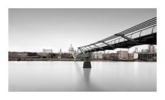 Connection (GlennDriver) Tags: black white bw mono monochrome london bridge river thames uk england blackandwhite subtle long exposure st pauls cathedral church architecture buildings