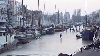 Winter,Groningen Stad ,the Netherlands,Europe,Skating Noorderhaven