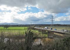 This view will soon change. (Tudor Barlow) Tags: worcester worcestershire england rivers riversevern malvernhills bridges carringtonbridge spring canonpowershotsx620hs