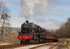 44871 On Keighley Bank. (Neil Harvey 156) Tags: steam steamloco steamengine steamrailway railway 44871 keighleybank keighley keighleyworthvalleyrailway kwvr worthvalleyrailway black5 stanier lms