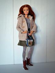Ready to go... (Deejay Bafaroy) Tags: barbie fashionistas donut donuts mattel doll puppe madetomove mtm portrait porträt boots stiefel stripes streifen striped gestreift redhead