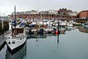 Sundowner on the Royal Harbour Marina (zawtowers) Tags: ramsgate thanet kent historic seaside town harbour port resort saturday 10th march 2018 changeable weather rain wet royal marina sundowner leading boat front