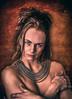 Art (kristentande) Tags: woman art hair mighty