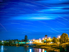Lake Nagambie Star Trails (Laith Stevens Photography) Tags: olympus omd olympusinspired omdem1 olympusomd outdoor olympusau olympusaustralia omdem1mkii olympususa goneawol getolympus longexposure blendedexposures startrails zuiko25mmf12 nagambie victoria ngc stars blue night lights lowiso
