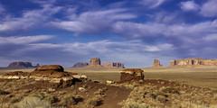 02469376317-97-Monunment Valley-17 (Jim There's things half in shadow and in light) Tags: 2018 arazona canon5dmarkiv february monumentvalley navajo utah desert earth nature park sky statepark landscape clouds