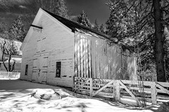 DSCF4580-2059.jpg (RHMImages) Tags: malakoffdiggins building winter bnw nevadacounty nevadacity fujifilm snow xt2 barn monochrome fuji historic statepark blackandwhite goldcountry fence