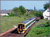 158759, Salisbury (Jason 87030) Tags: class158 reginal express 158759 new old 1991 march lineside location collection slide scan cardiff portsmouth pompey salisbury spot shot shoot transport