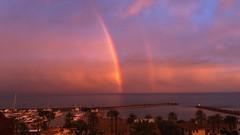 Después  de la tormenta.....el arco iris (j.torresgrifol) Tags: arcoiris tormenta playa mar agua nubes pobladefarnals movil inesperado doble calma