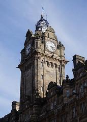 The Balmoral Clock (p.mathias) Tags: scotland sony a5100 uk united unitedkingdom europe history historical historic architecture building buildings bluesky edinburgh exterior hotel clock tower clocktower balmoral csc