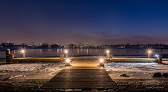 From jetty to city! (karindebruin) Tags: thenetherlands nederland zuidholland rotterdam city stad jetty steiger view water snow sneew ijs ice kralingseplas
